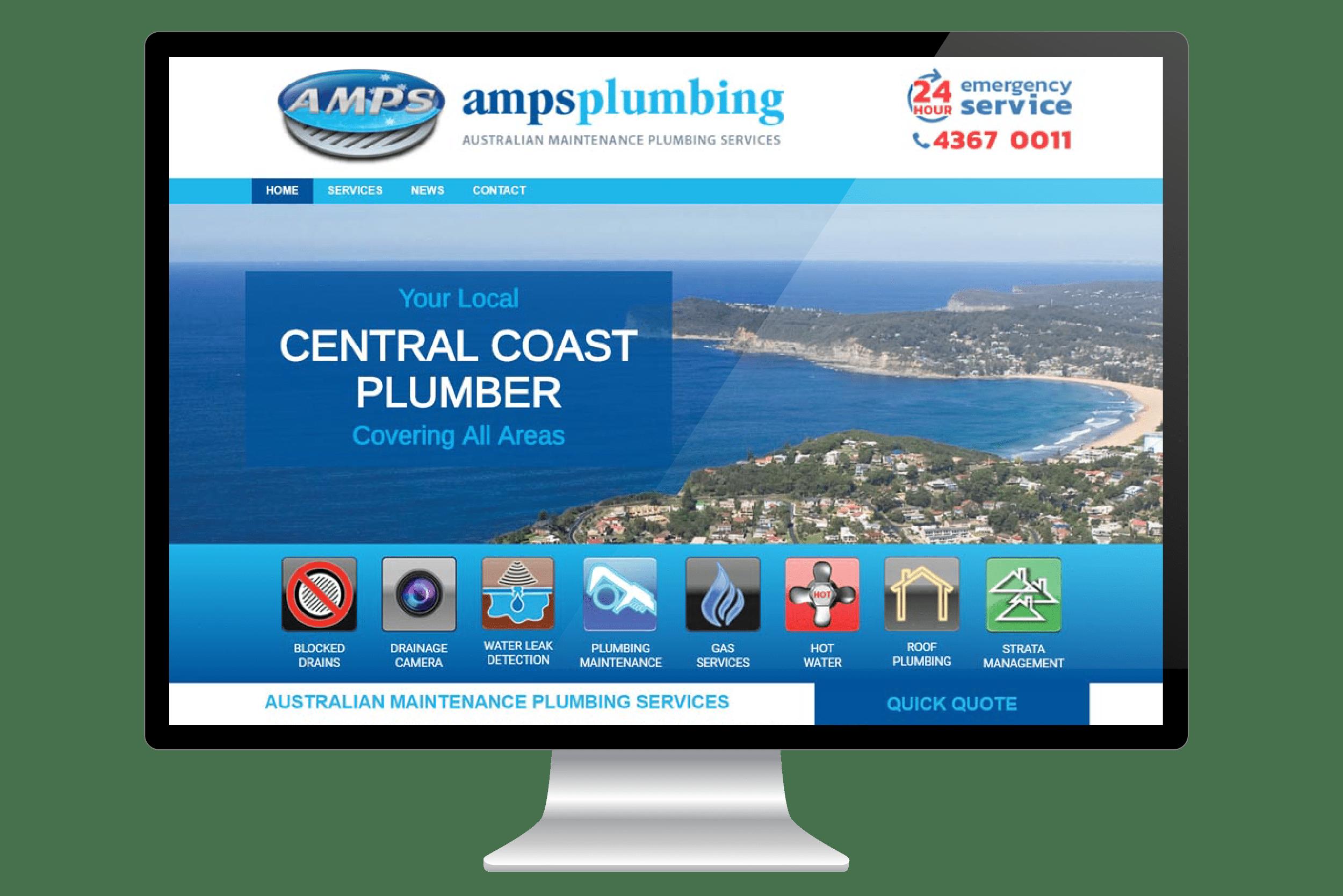 Website Design for Central Coast Plumber