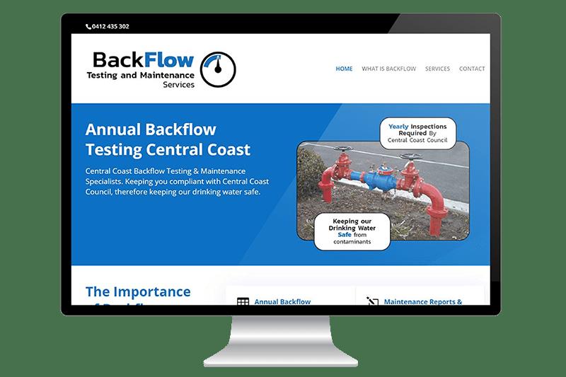 Website Design for Central Coast Backflow Testing