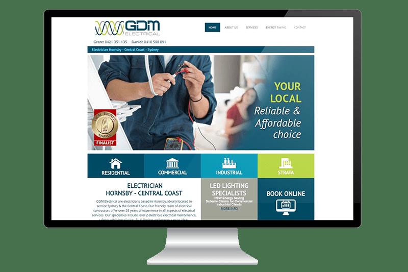 Website Design for Central Coast Electrician