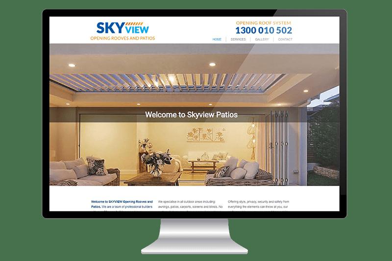 Website Design for Central Coast Patio Builders
