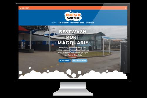 Website Design for BESTWASH Port Macquarie