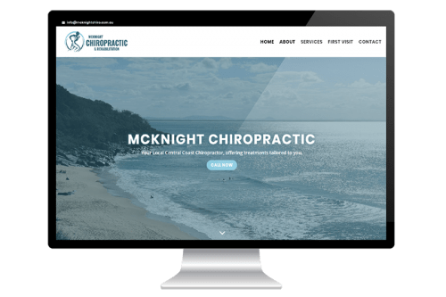 Website Design for Central Coast Chiropractor