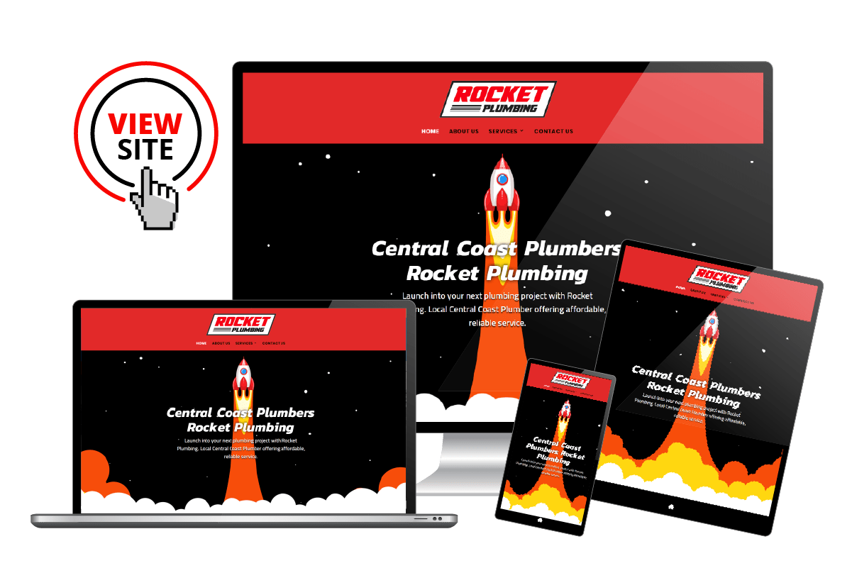 Rocket Plumbers Website Design
